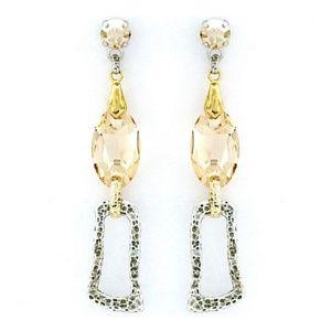 Zzan Jewelry  Contemporary Gold & Silver Earrings